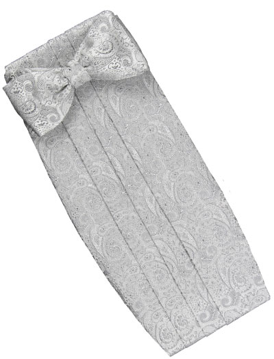 silver formal set  paisley