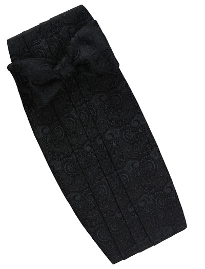 black formal set  paisley