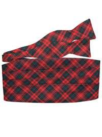 red set  woven plaid