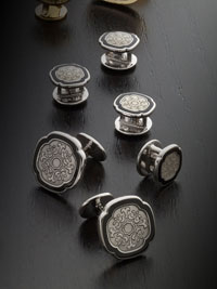 silver stud set by tom james