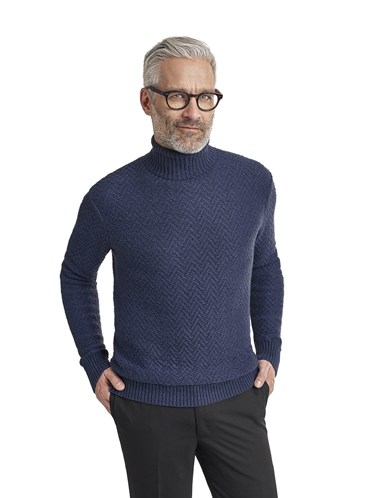 Cable Knit Turtle Neck Sweater by Tom James