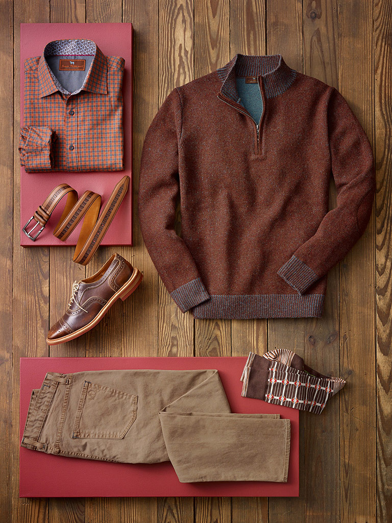 Casual Sweater Ensemble by James Tattersall & Agave