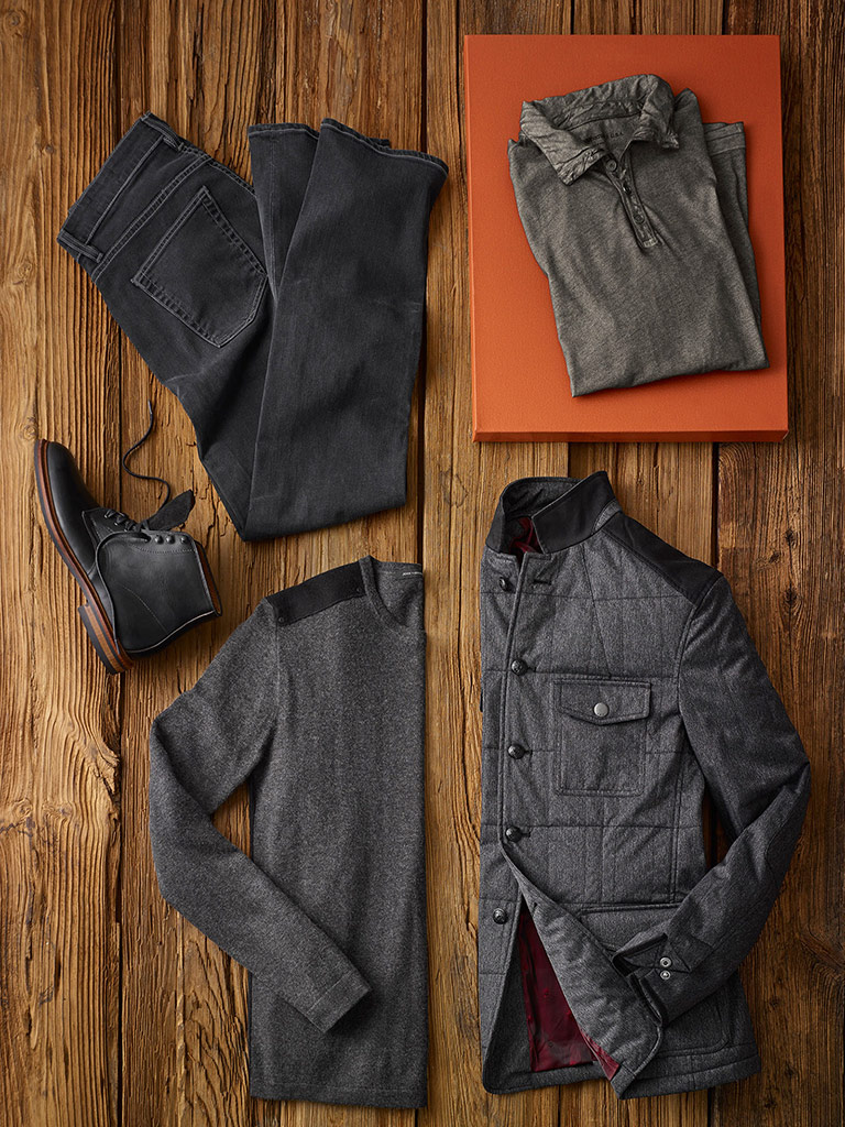 Dressed Down Casual  by John Varvatos and Agave