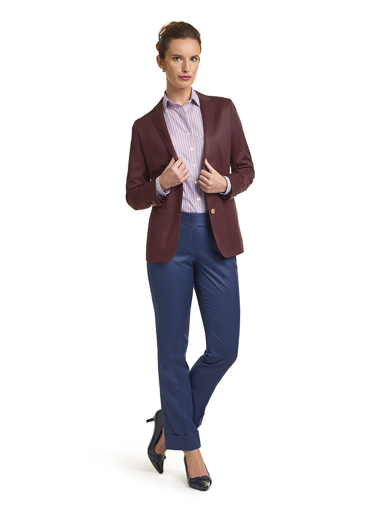 Super 120's Maroon Solid  Jacket & Royal Blue Pant
