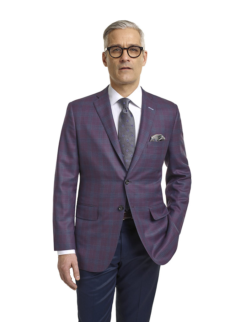 Super 120's Plum Plaid
