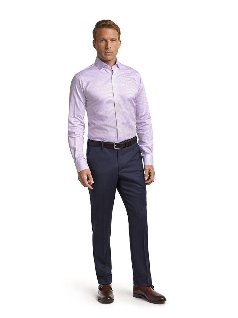 Executive Collection Lavender Stripe Men