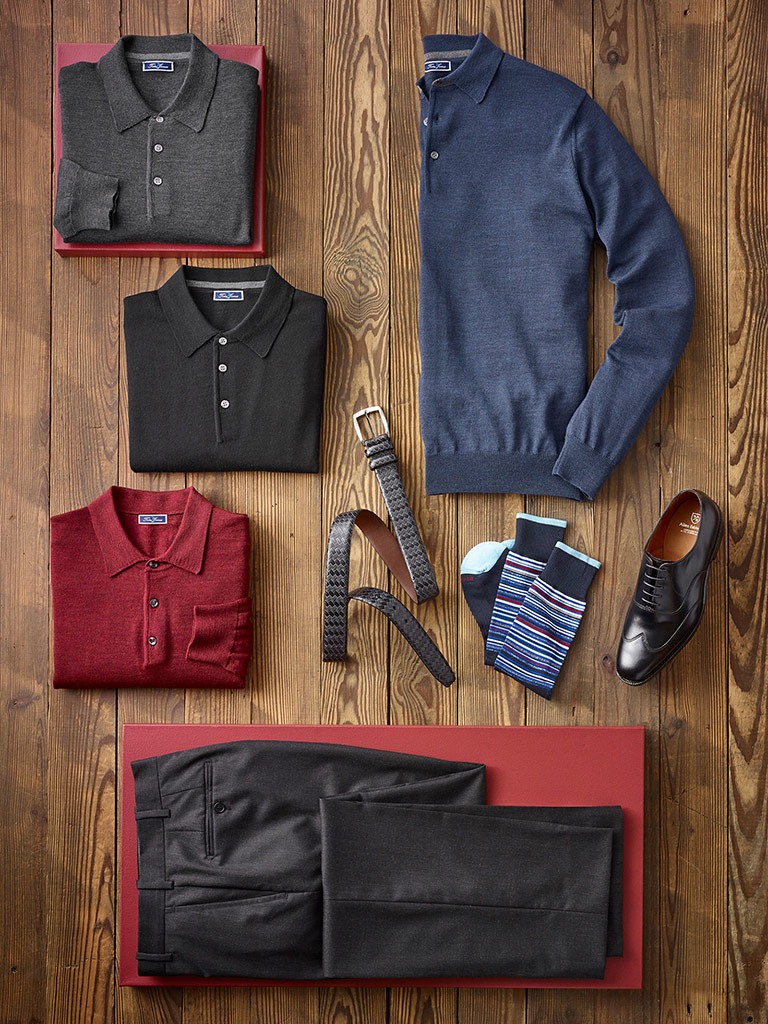 SPORTSWEAR                                                                                                                                                                                                                                                , Long Sleeve Polos by Tom James