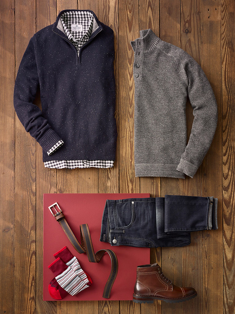 SPORTSWEAR                                                                                                                                                                                                                                                , Sweaters by Tom James with Mizzen & Main and Agave