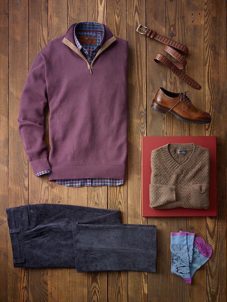 SPORTSWEAR                                                                                                                                                                                                                                                , Cozy Weekend look by Tom James and James Tattersall