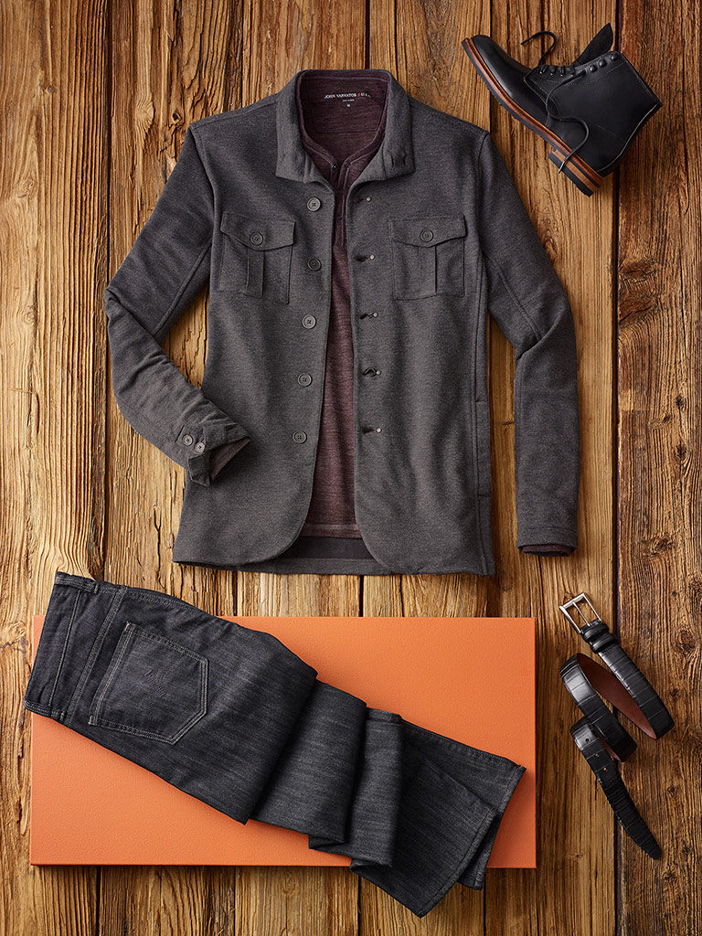 SPORTSWEAR                                                                                                                                                                                                                                                , Shirt Jacket and Henley by John Varvatos