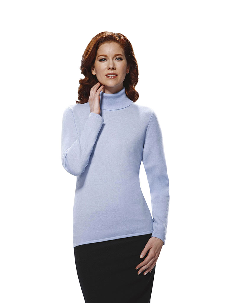 Custom Sweaters & Knits                                                                                                                                                                                                                                   , Women's Turtleneck Long Sleeve
