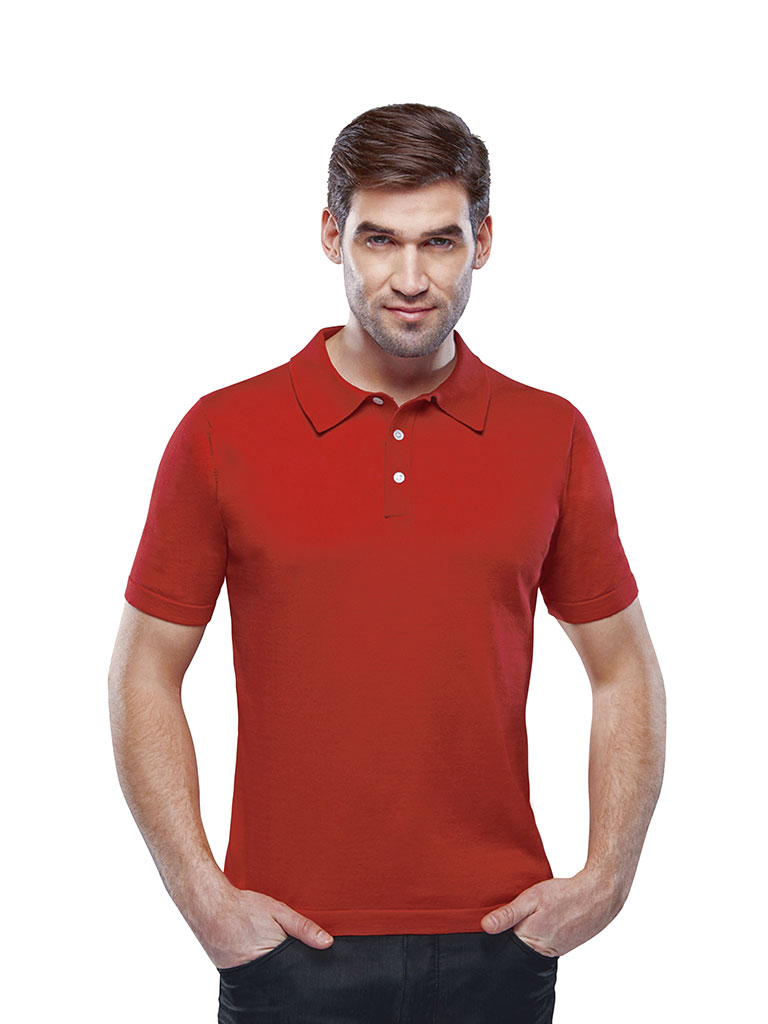Custom Sweaters & Knits                                                                                                                                                                                                                                   , Men's 3 Button Polo Short Sleeve