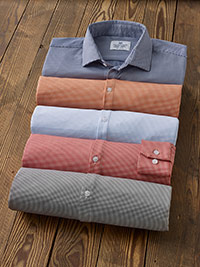 Custom Mini Check Sport Shirts by Mizzen & Main