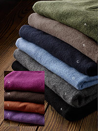 Custom 100% Cashmere Sweaters by Tom James