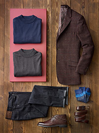 Custom Dressed Up Casual by James Tattersall, Tom James and 34 Heritage