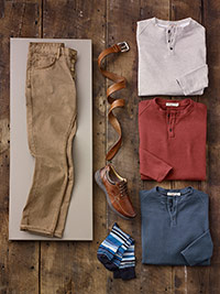 SPORTSWEAR                                                                                                                                                                                                                                                , Long Sleeve Henleys and 5-Pocket by Agave