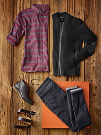 Custom Autumn Weather Casual by John Varvatos and Jack of Spades