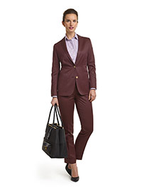 WOMEN'S CUSTOM SUIT                                                                                                                                                                                                                                       , Super 120's Maroon Solid