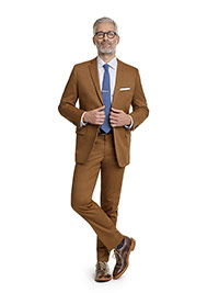 MEN'S CUSTOM SUIT                                                                                                                                                                                                                                         , Cotton Stretch