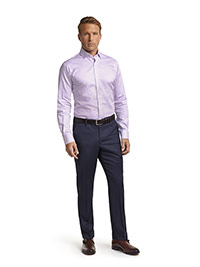 CUSTOM SHIRTS                                                                                                                                                                                                                                             , Executive Collection Lavender Stripe Men's Custom Dress Shirt