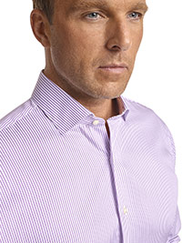 CUSTOM SHIRTS                                                                                                                                                                                                                                             , Executive Collection Lavender Stripe Custom Men's Dress Shirt
