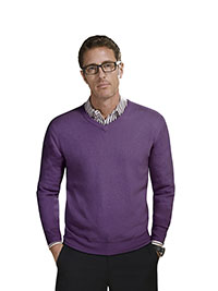 Custom Sweaters & Knits                                                                                                                                                                                                                                   , Men's High V-Neck Long Sleeve