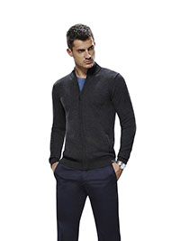 Custom Sweaters & Knits                                                                                                                                                                                                                                   , Men's Full Zip Mock Long Sleeve
