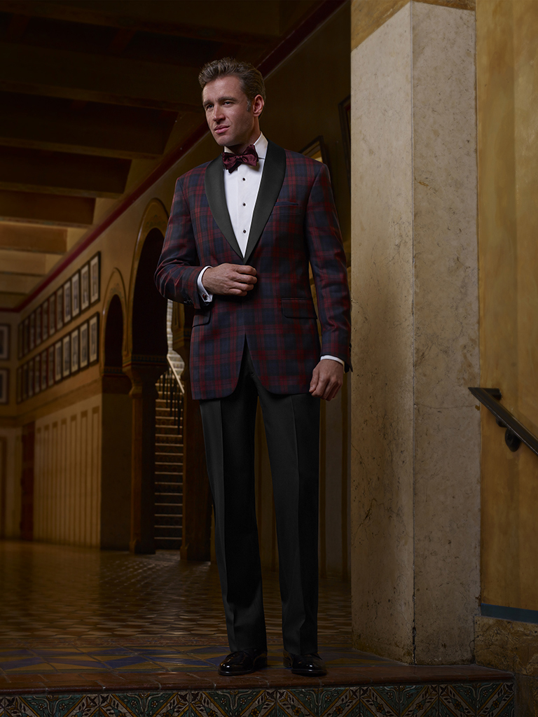 FORMAL GALLERY                                                                                                                                                                                                                                            , Plaid Tuxedo Jacket