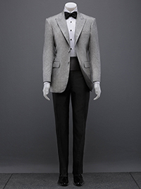 FORMAL GALLERY                                                                                                                                                                                                                                            , Black and White Contrast Jacquard Tuxedo