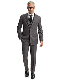 MEN'S TRADITIONAL CUSTOM SUIT                                                                                                                                                                                                                             , Dark Gray Sharksin