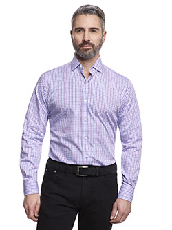 Casual Shirts                                                                                                                                                                                                                                             , Super 120's Wool - Blue Check