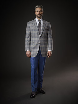 July 2017 Luxury Collection                                                                                                                                                                                                                               , 100% Escorial - Light Gray Plaid