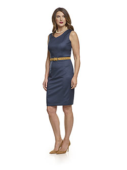 July 2017 Ladies Collection                                                                                                                                                                                                                               , Super 120's Royal Navy Plain Dress