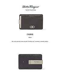 Ferragamo Fall 2017                                                                                                                                                                                                                                       , Slim Card Case by Ferragamo