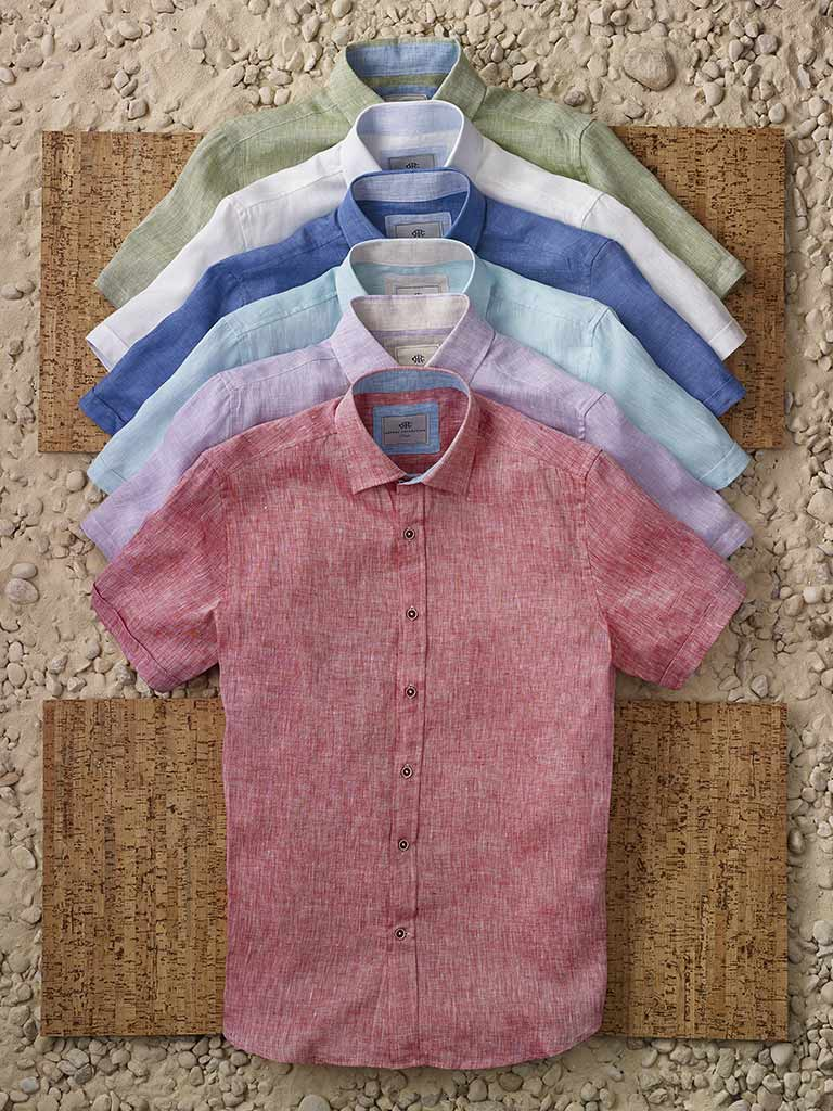 Short Sleeve Linen Sport Shirts by Report