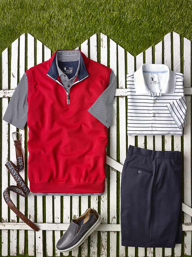 Knit Polos and Vest by Fairway & Greene