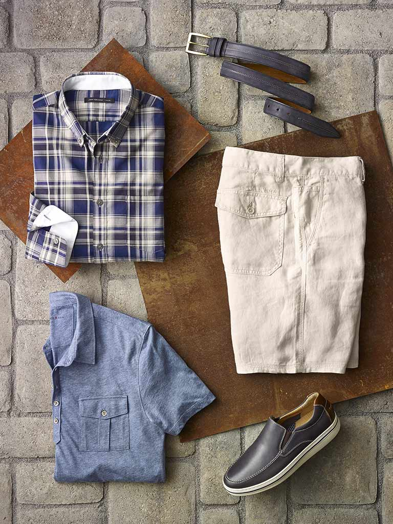 Sport Shirt, Knit and Short by John Varvatos