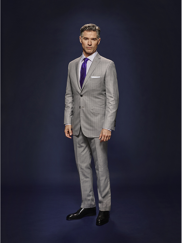 Silver Gray Tonal Asymetric Stripe - Holland & Sherry Dragonfly Supreme - Oxxford Hand Made Bespoke Suit