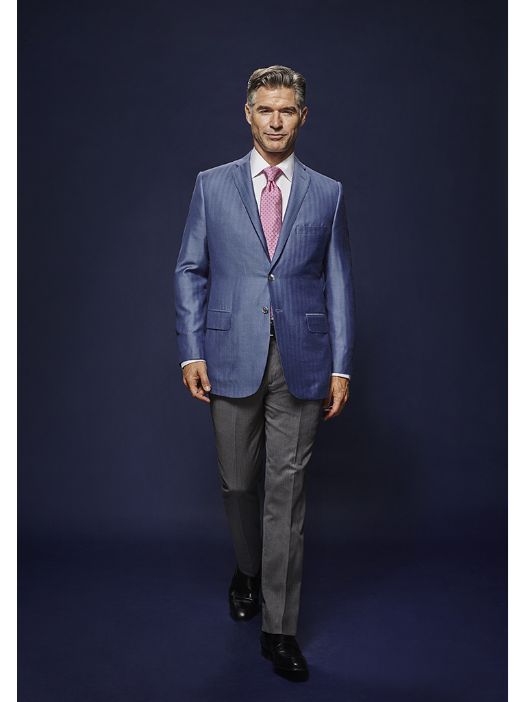 French Blue Herringbone - Oxxford Hand Made Bespoke Sport Coat