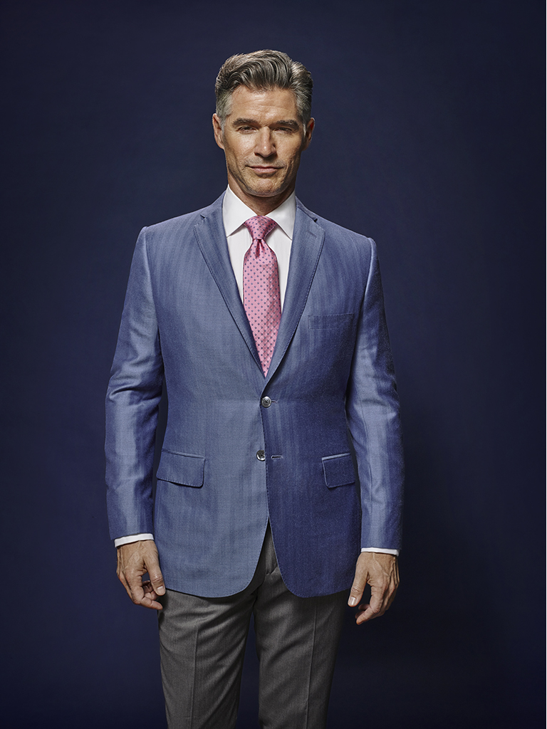 French Blue Herringbone - Oxxford Handmade Bespoke Sport Coat