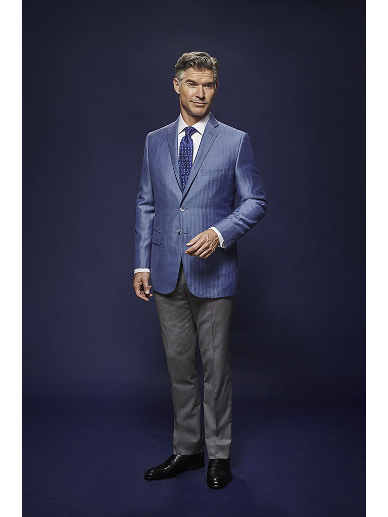 French Blue Herringbone - Oxxford Hand Tailored Bespoke Sport Coat