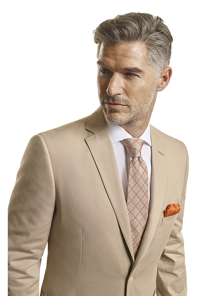 100% Cotton Khaki Plain - Made-To-Measure Men