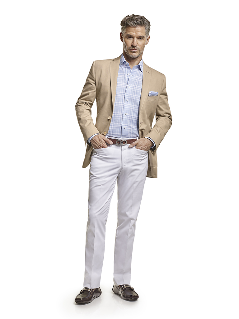 100% Cotton Khaki Plain - Custom Blazer & Custom Casual Trousers