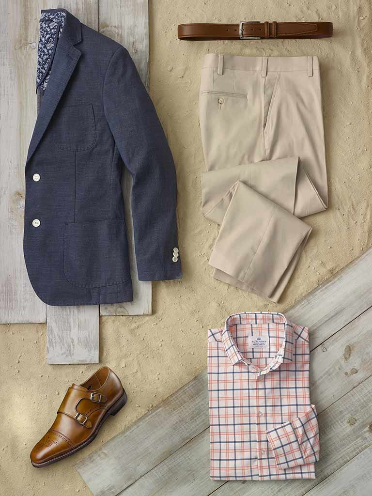 Sportswear Lookbook                                                                                                                                                                                                                                       , Sport Coat by Tom James & Sport Shirt by Mizzen and Main