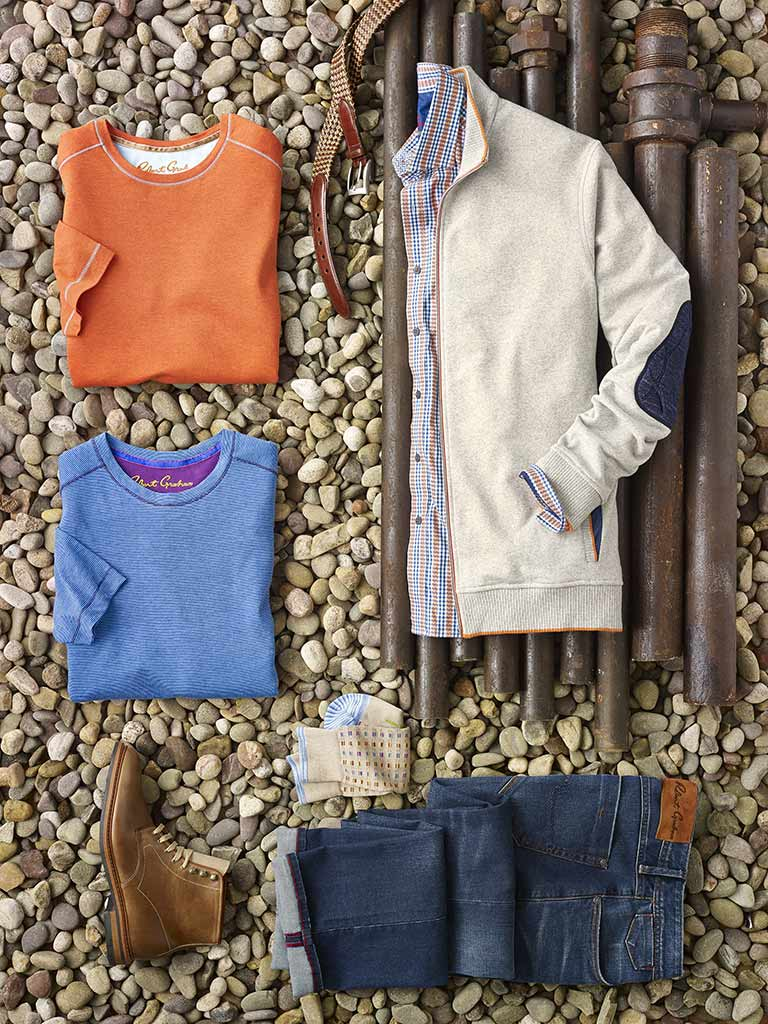 Sportswear Lookbook                                                                                                                                                                                                                                       , Sport Shirt, Knit, Sweater & Jeans by Robert Graham