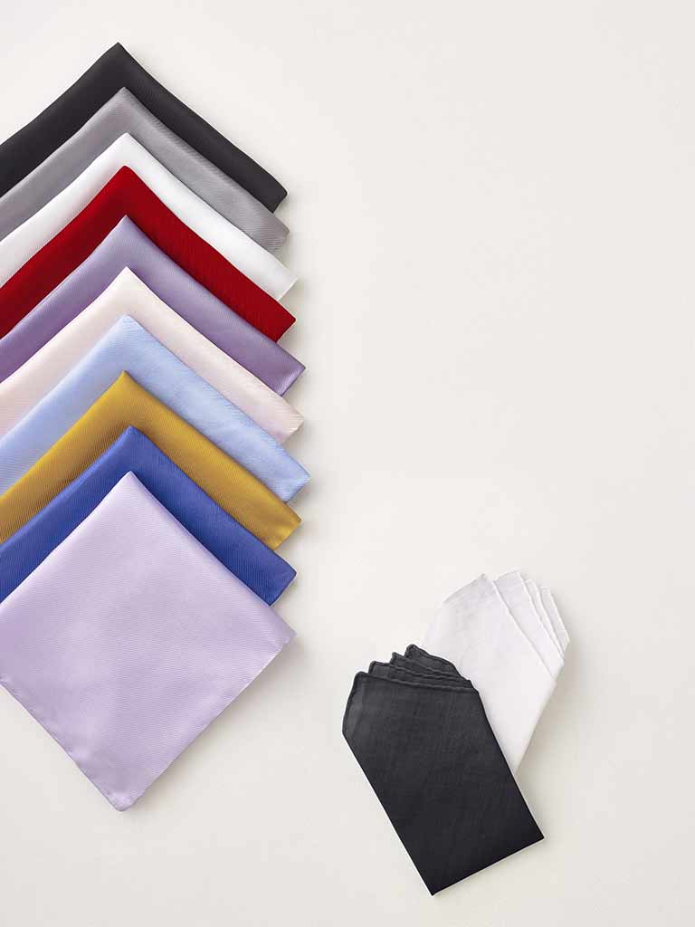 ACCESSORIES                                                                                                                                                                                                                                               , Solid Pocket Squares