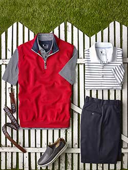 Custom Knit Polos and Vest by Fairway & Greene