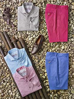 Custom Short Sleeve Parquet Sport Shirts & Shorts by Robert Graham