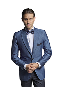 FORMAL GALLERY                                                                                                                                                                                                                                            , French Blue Lurex - H&S Masquerade - Custom Formal Tuxedo