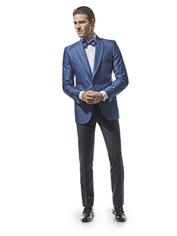 FORMAL GALLERY                                                                                                                                                                                                                                            , French Blue Lurex - H&S Masquerade - Made-To-Measure Tuxedo